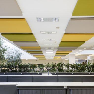 Pannelli fonoassorbenti Caruso Uffici Siemens