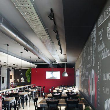 Riqualificazione Acustica ristorante Becher Caruso Acoustic