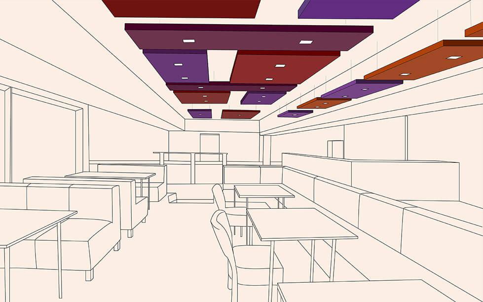 Riqualificazione acustica ristorante-Caruso Acoustic