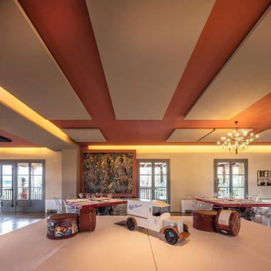 Caruso Acoustic per Corte Biffi – pannelli fonoassorbenti soffitto Silente08