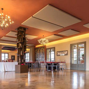 Caruso Acoustic per Corte Biffi – pannelli fonoassorbenti soffitto Silente09