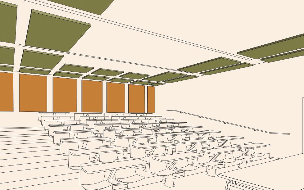 Correzione acustica aula didattica - Caruso Acoustic