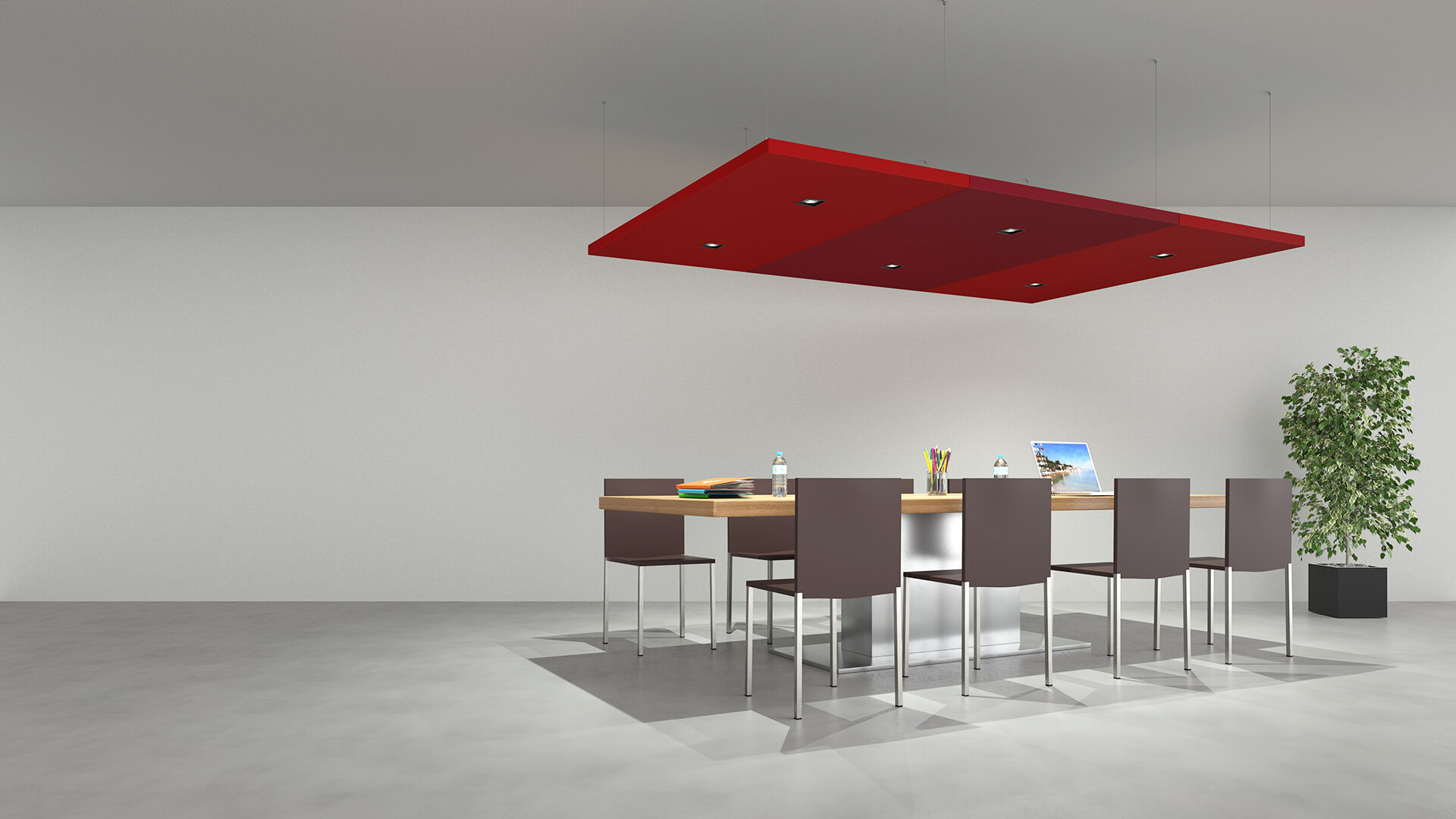 Suspended Acoustic Ceiling Panels Nuvola Caruso Acoustic