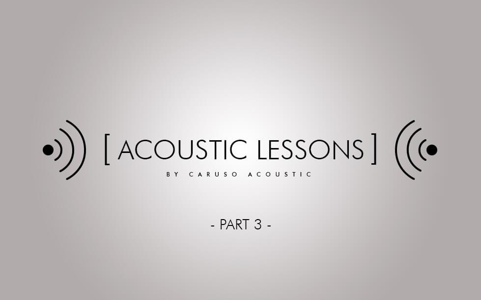 Assorbimento acustico- terza lezione di acustica