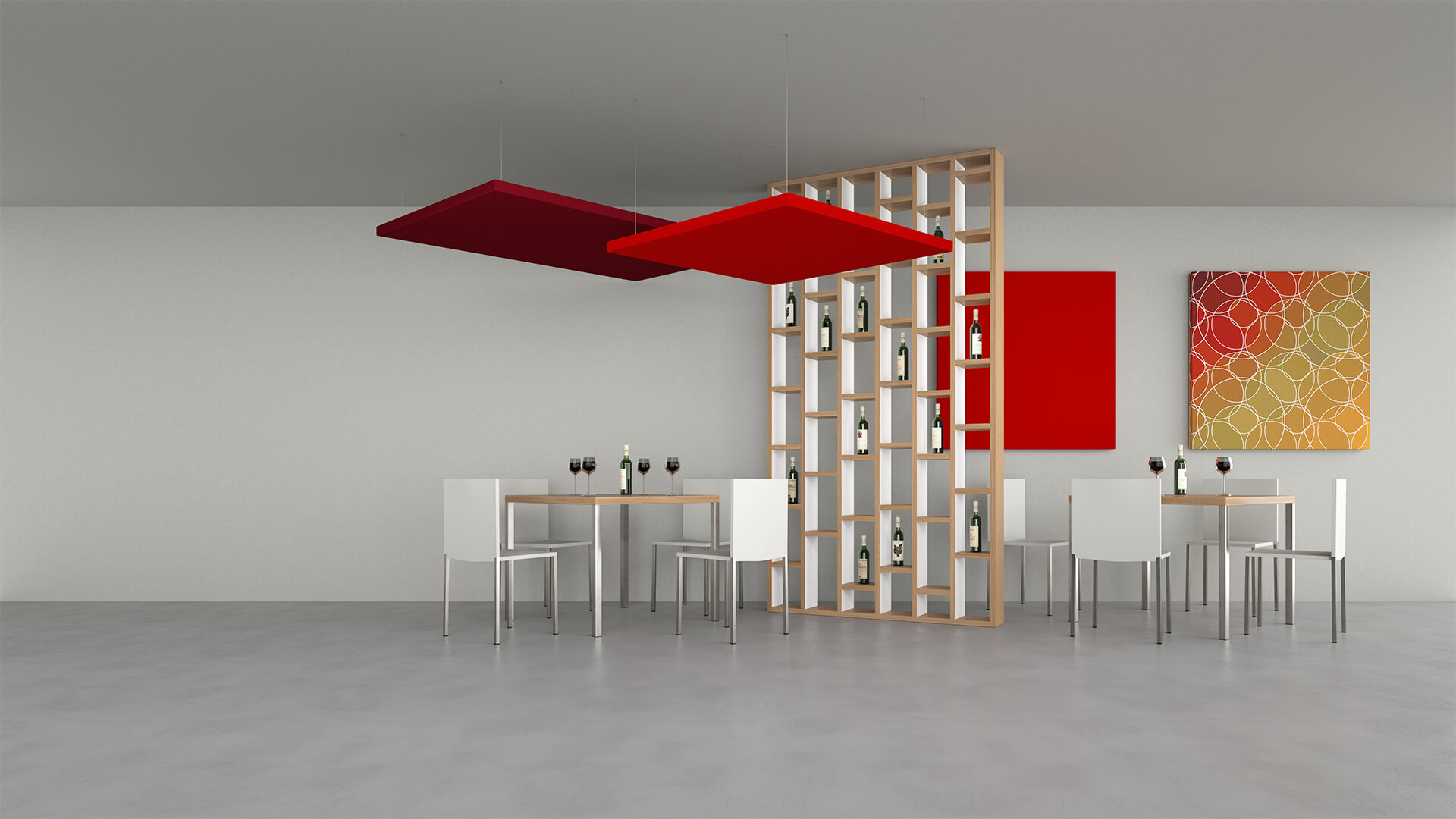 Silente sound-absorbing ceiling and wall panel - Caruso Acoustic
